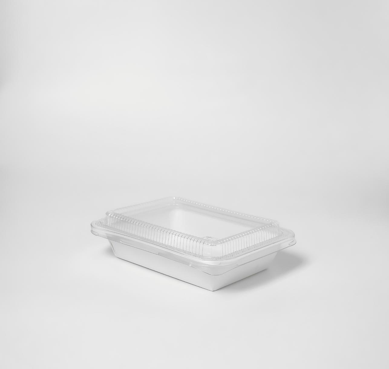 กล่องอาหารกระดาษ ฝาใส 650ml