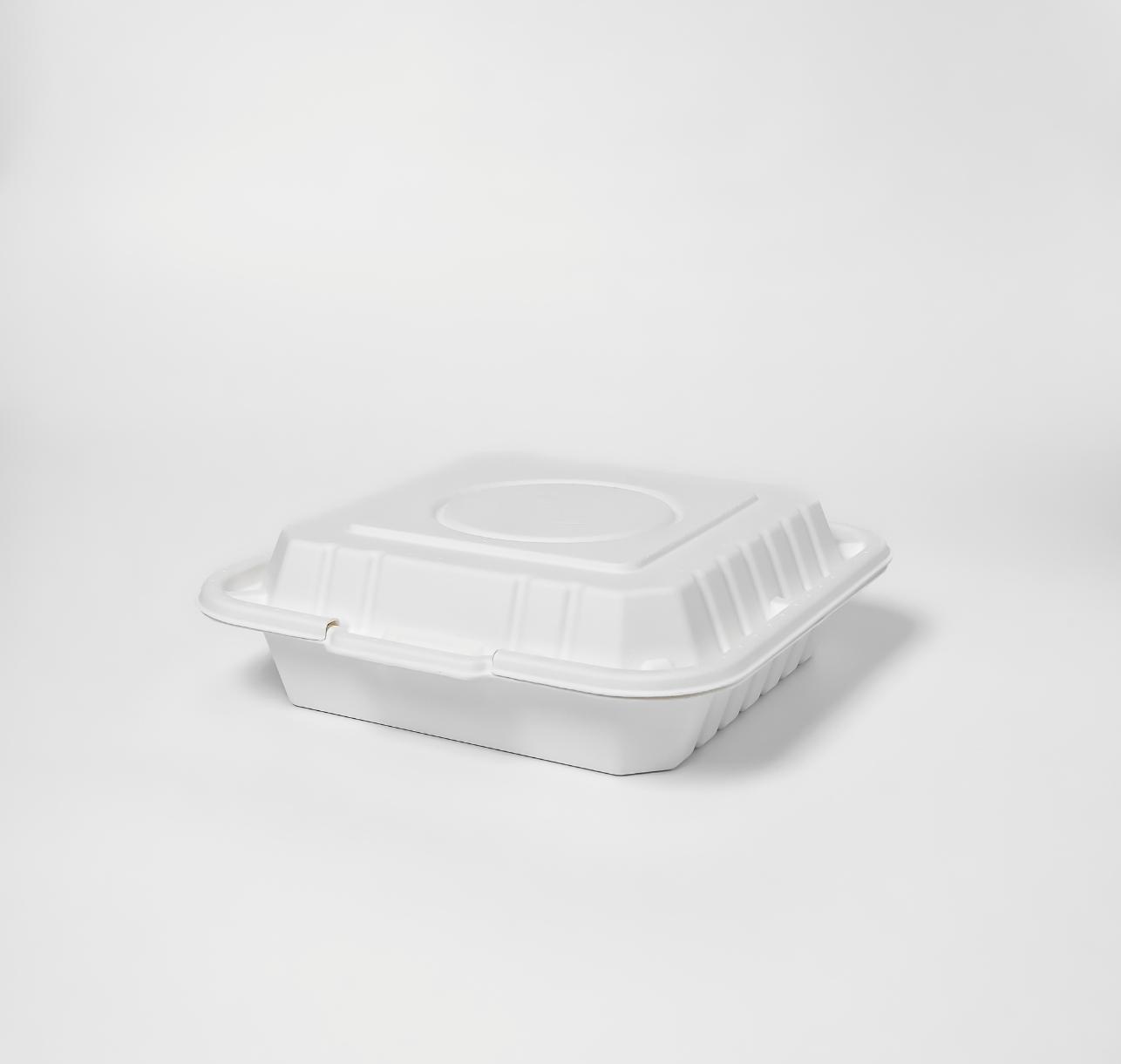 กล่องอาหารเยื่อธรรมชาติ ทรงจัตุรัส Eco 1000ml