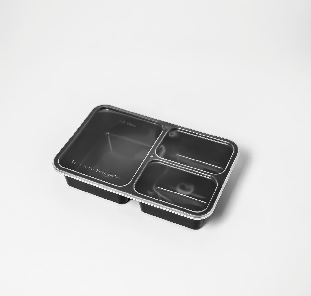 กล่องอาหารพลาสติก 3 ช่อง premium 900ml