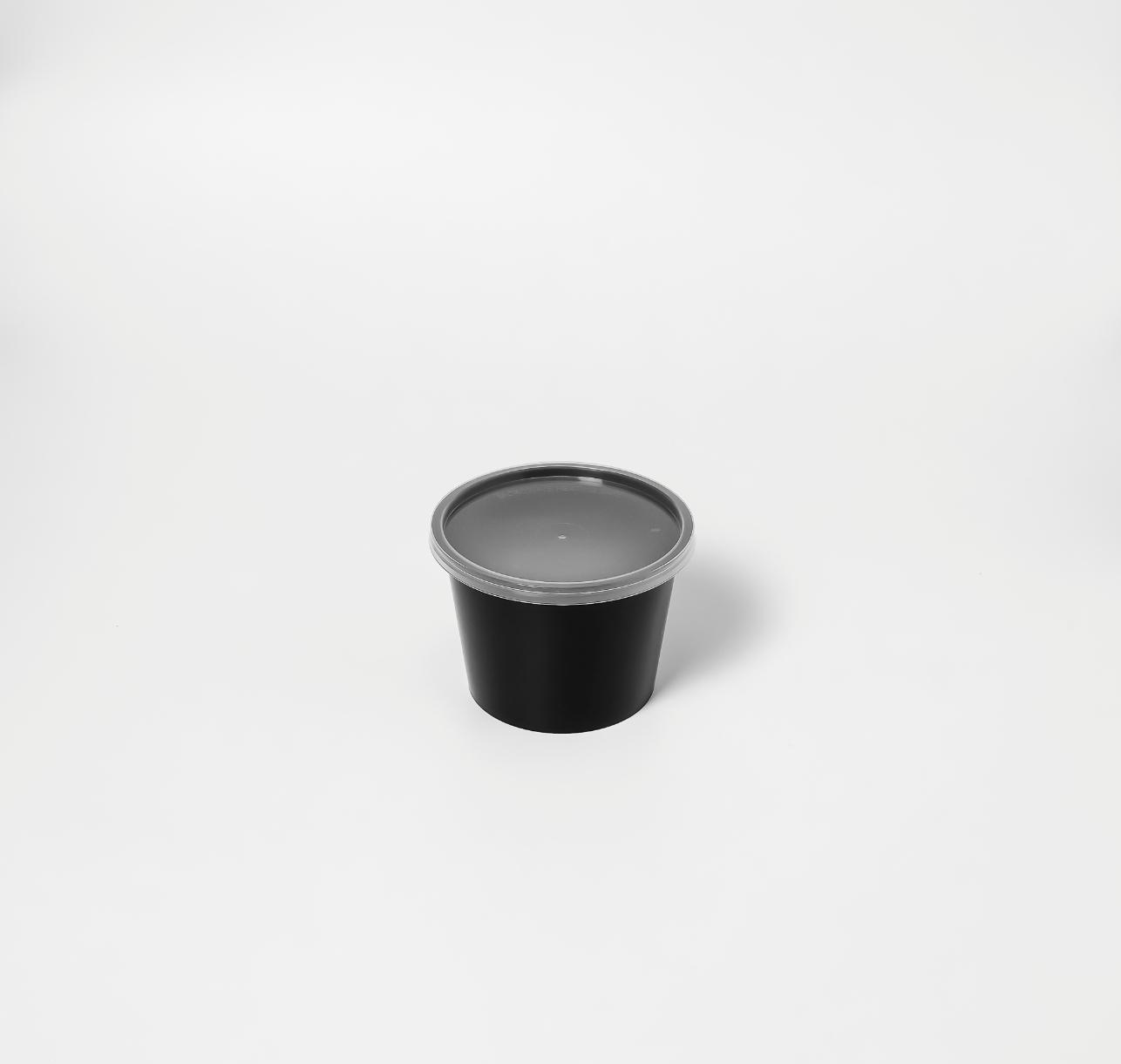 กล่องอาหารพลาสติกกลม premium 20oz