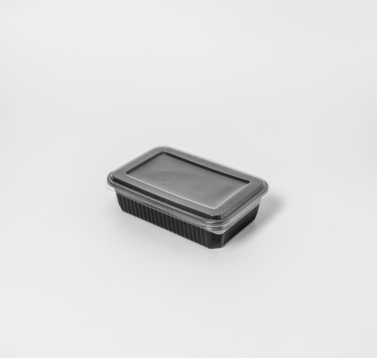กล่องอาหารพลาสติก 1 ช่อง 650ml (ฝาไร้ฝ้า)