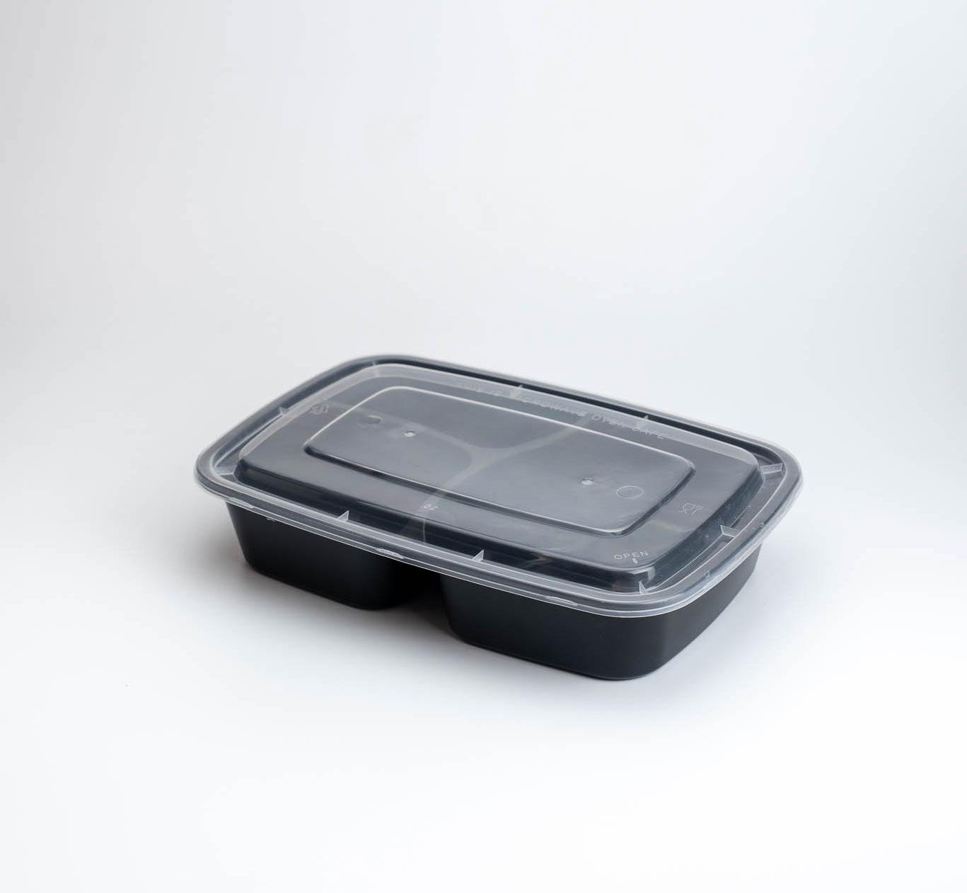 กล่องอาหารพลาสติก 3 ช่อง 800ml