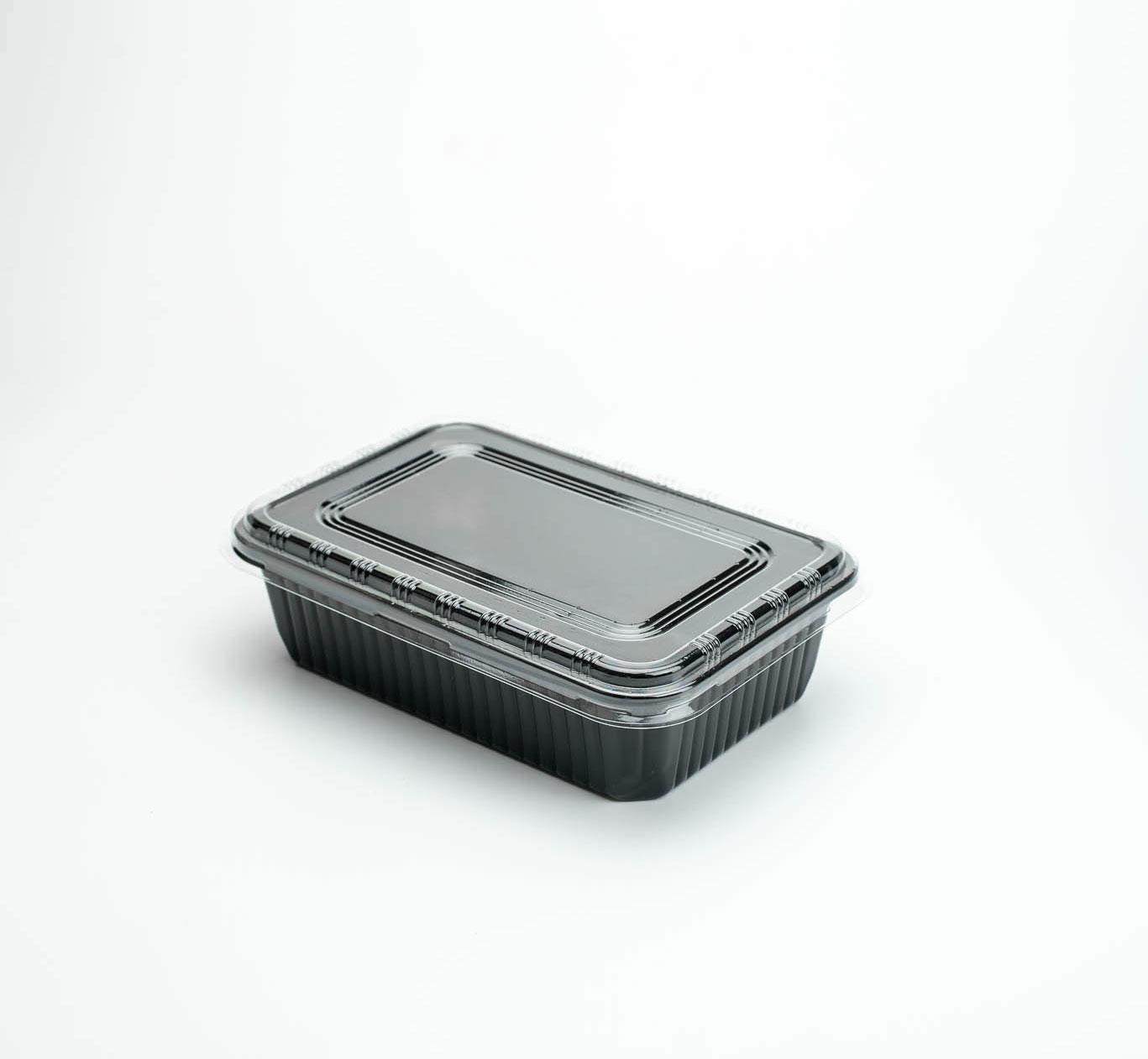 กล่องอาหารพลาสติก 1 ช่อง 650ml (ฝาใสไร้ฝ้า)