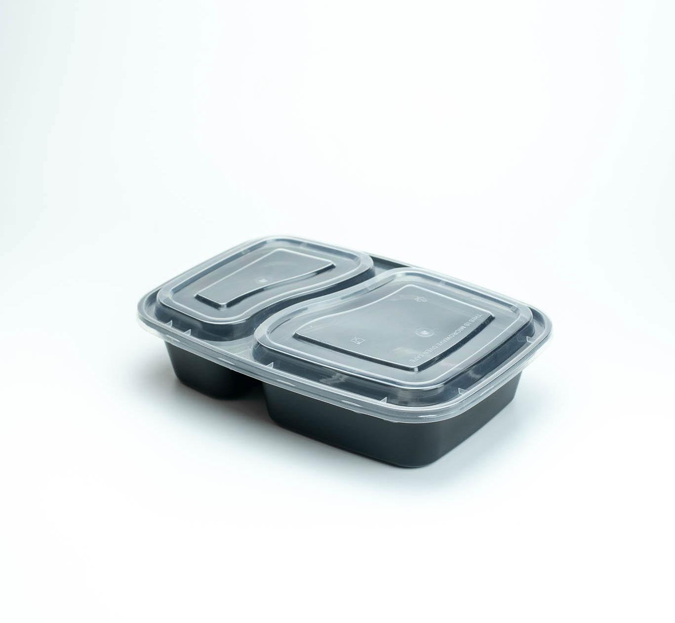 กล่องอาหารพลาสติก 2 ช่อง 1000ml