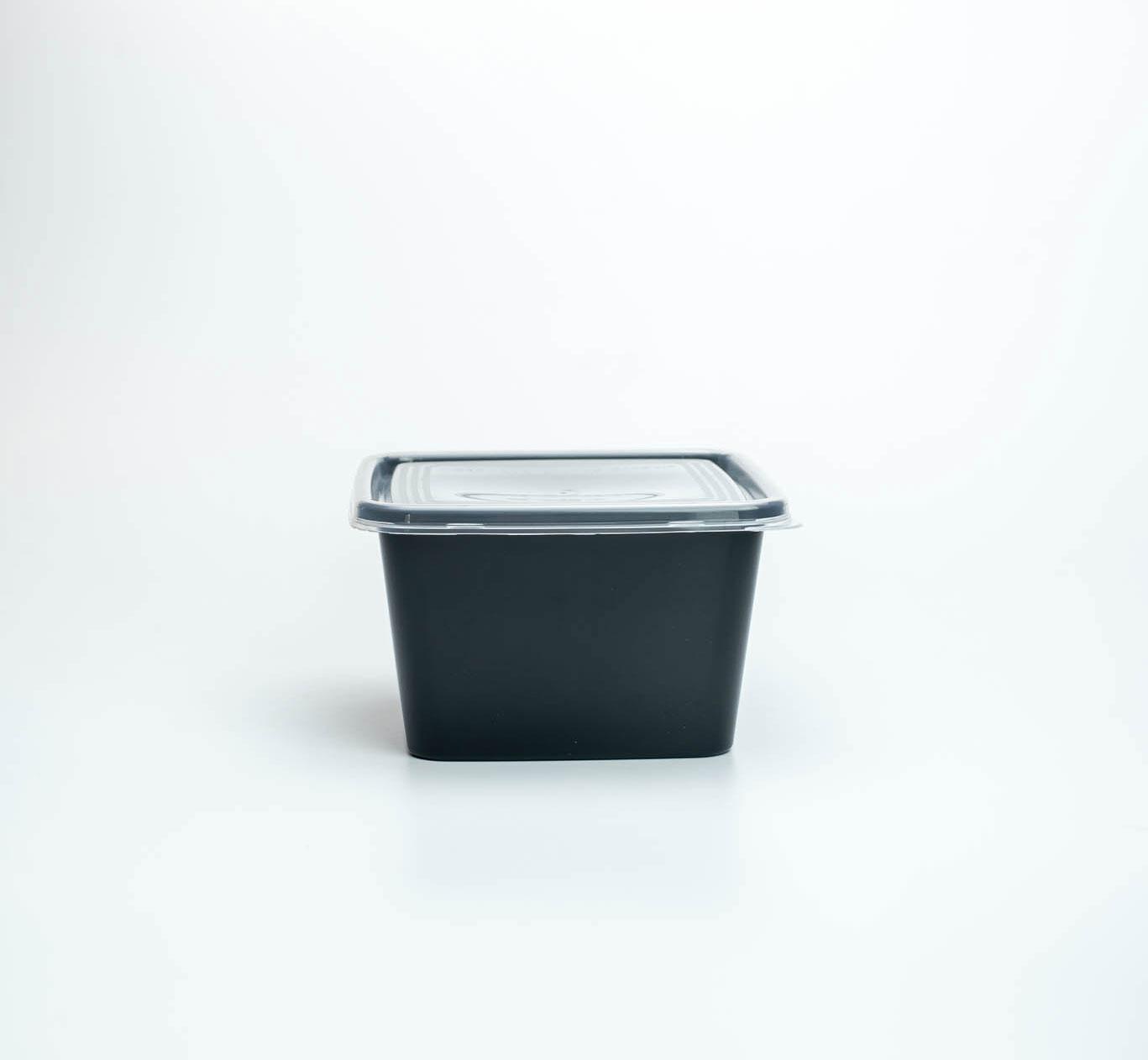 กล่องอาหารพลาสติก premium 650ml ทรงจัตุรัส