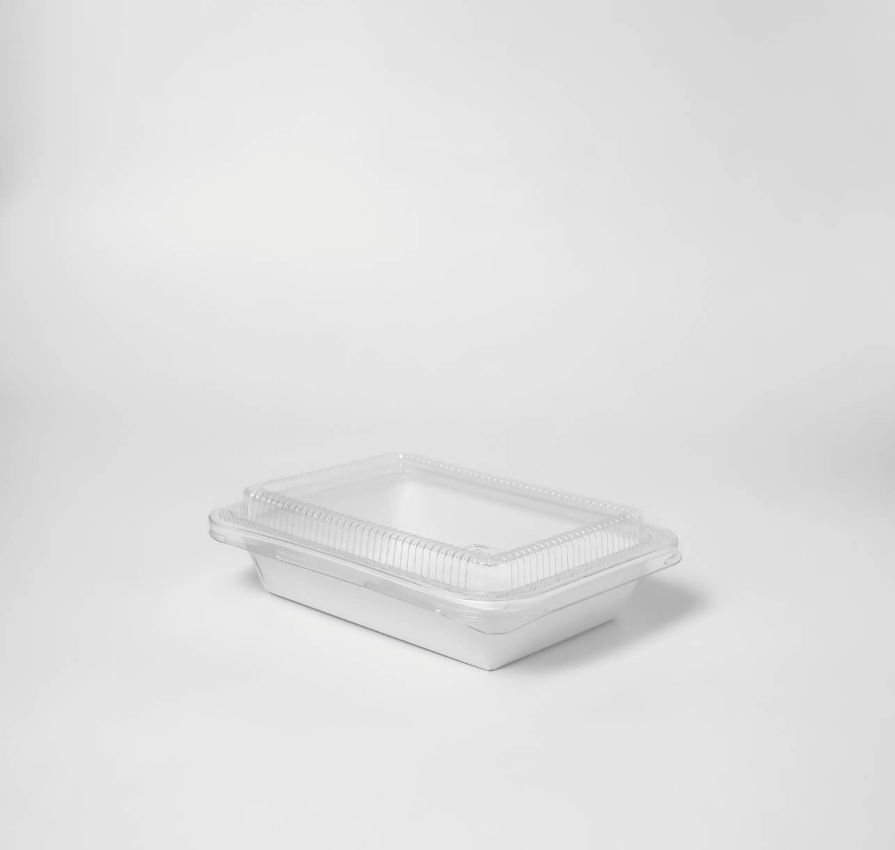 กล่องอาหารกระดาษ Eco Coated Hybrid ฝาใส 650ml