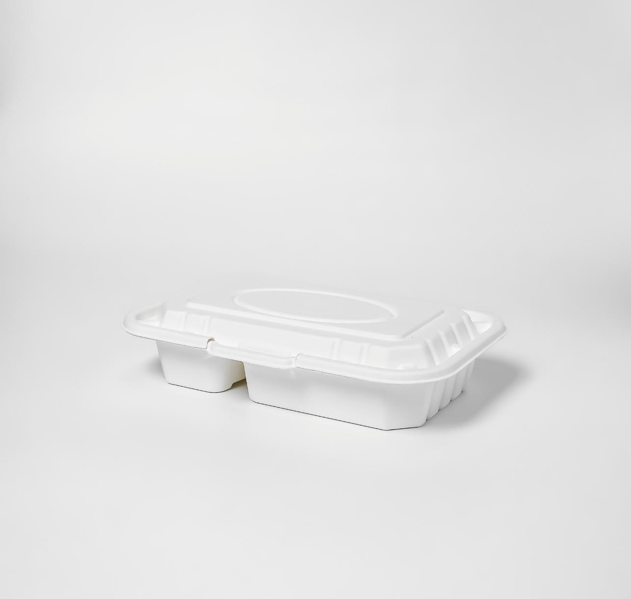กล่องอาหารเยื่อธรรมชาติ 2 ช่อง Eco 950ml