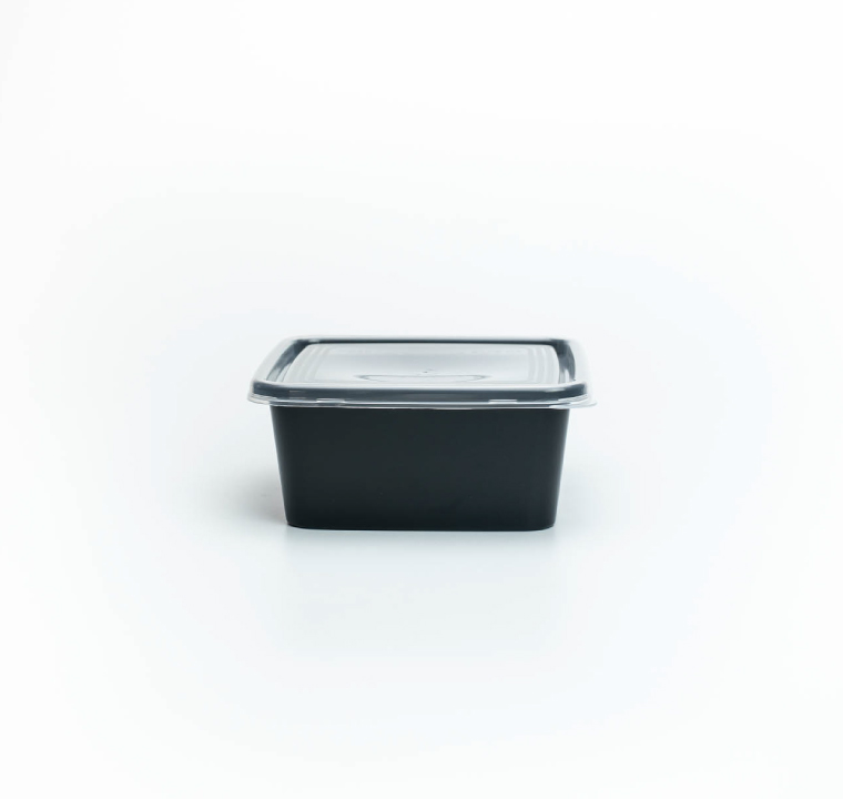 กล่องอาหารพลาสติก premium 450ml ทรงจัตุรัส