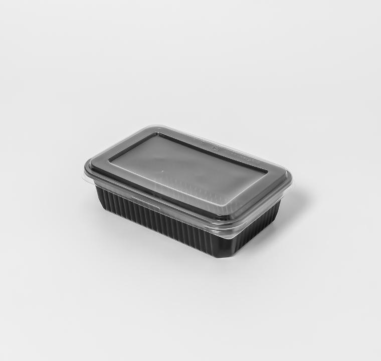 กล่องอาหารพลาสติก 1 ช่อง simple 650ml (ฝาไร้ฝ้า)