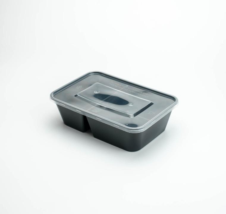 กล่องอาหารพลาสติก 2 ช่อง simple 650ml