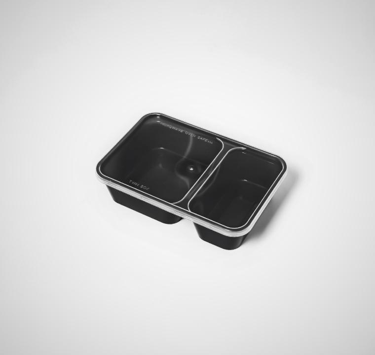 กล่องอาหารพลาสติก 2 ช่อง premium 500ml