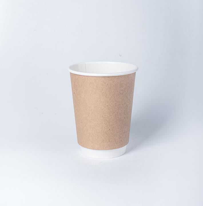 แก้วกระดาษ 2 ชั้น (กันร้อน) 8oz สีน้ำตาล