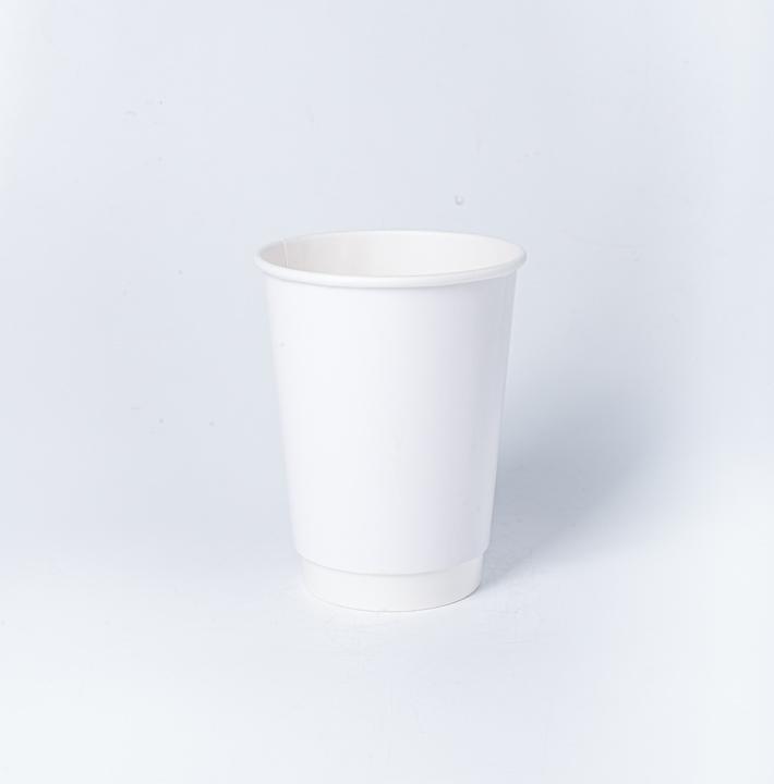 แก้วกระดาษ 2 ชั้น (กันร้อน) 12oz สีขาว