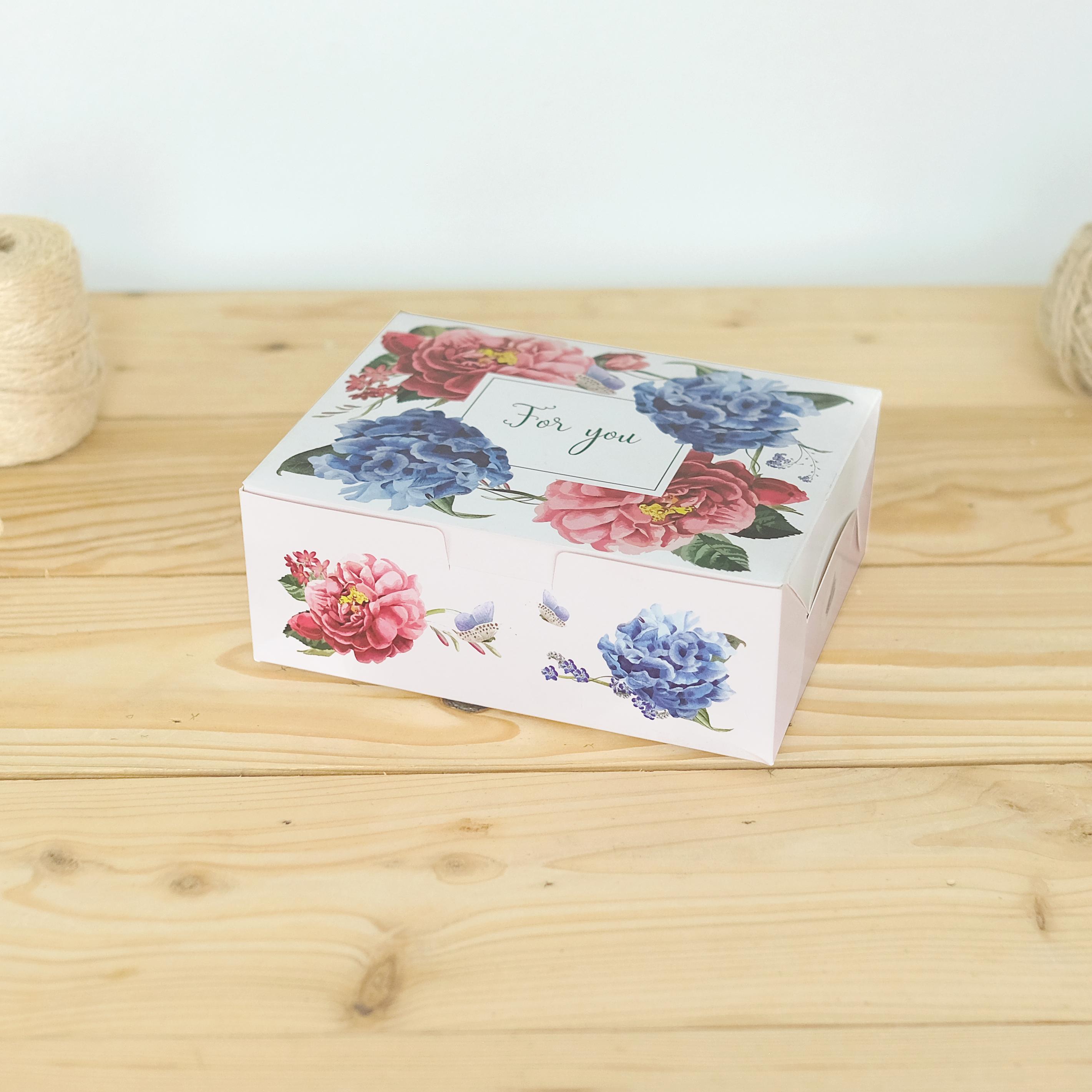 ECO Snack Box ทรงผืนผ้า ลายดอกไม้