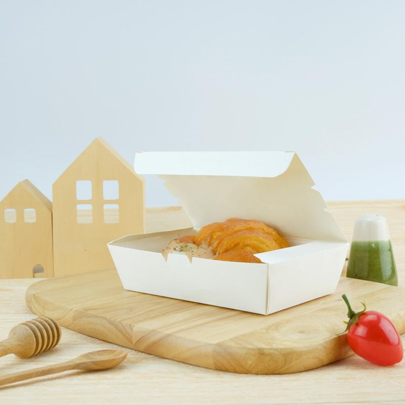 ECO กล่องอาหารกระดาษ 500ml สีขาวนวล