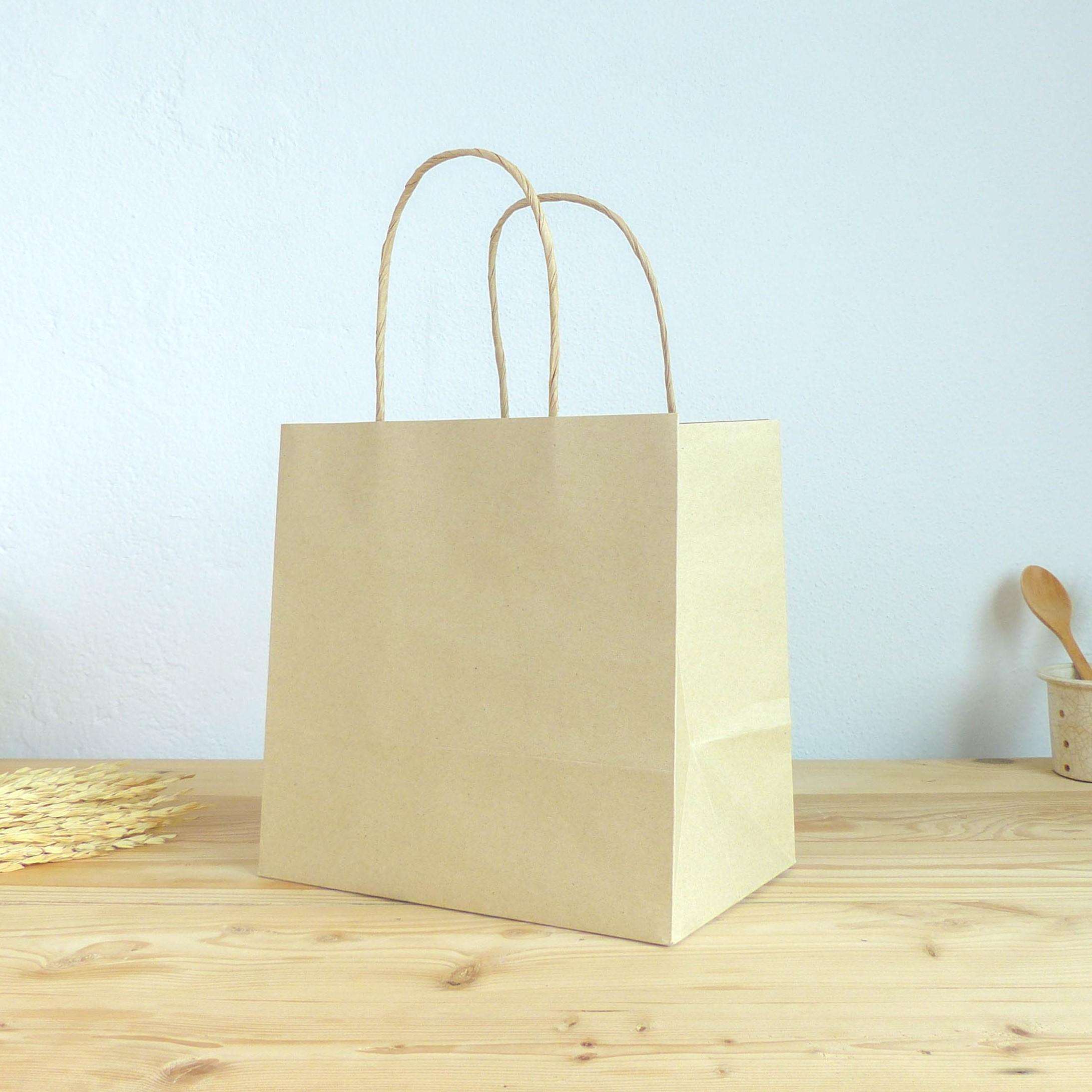 ถุงกระดาษ ใส่กล่องอาหาร size M