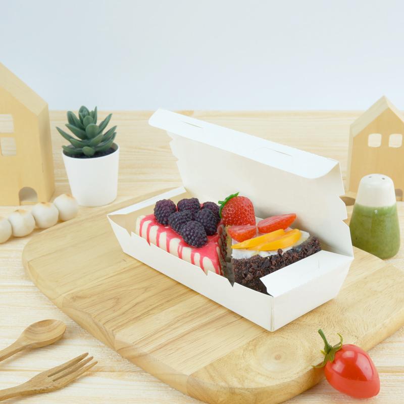 ECO Snack Box ทรงยาว 400ml สีขาว