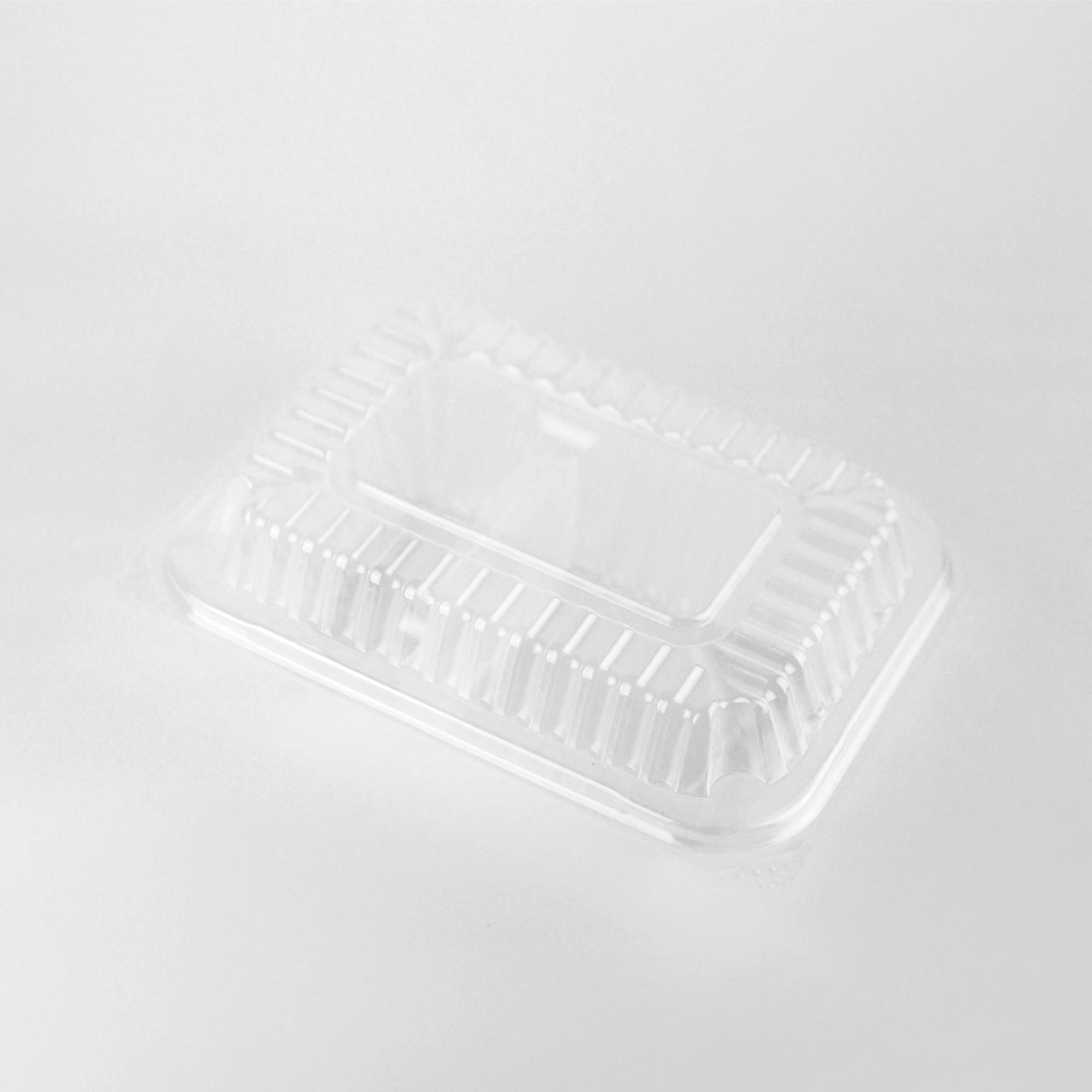 กล่องอาหารพลาสติกฝาพับ 2 ช่อง simple 600ml