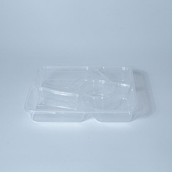 กล่องอาหารพลาสติก 5 ช่อง premium 1000ml