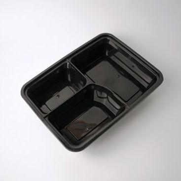 กล่องอาหารพลาสติก 3 ช่องหยัก Eco-Premium ขนาด 1000ml